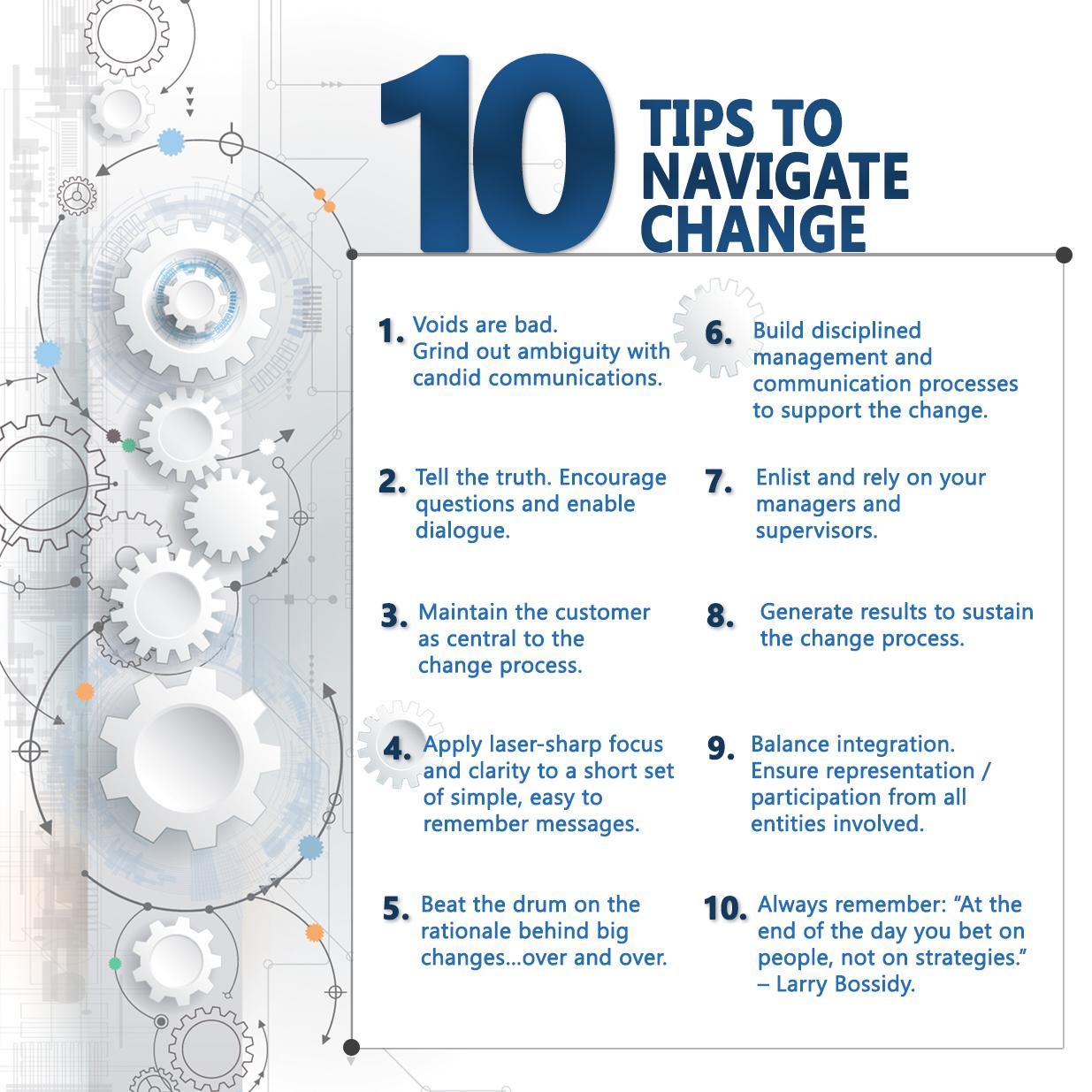 10 Tips to Navigate Change