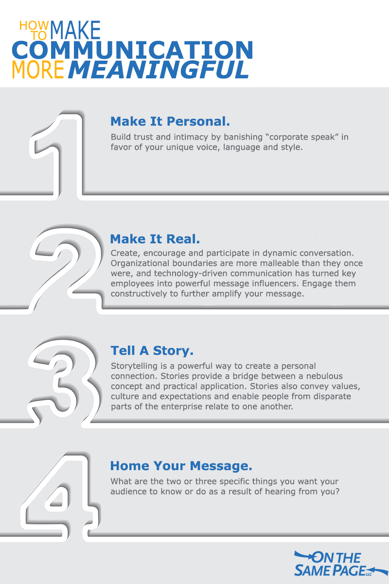 How to Make Communication More Meaningful