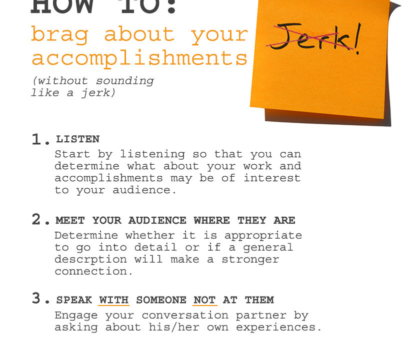 How to Brag: 3 Rules for Effective Communication